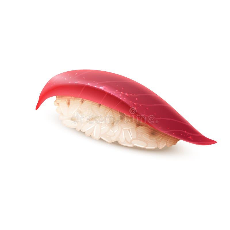 Sushi, cocina japonesa, aislada en blanco stock de ilustración