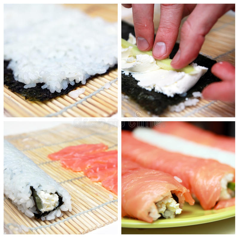 Sushi Collage Royalty Free Stock Images