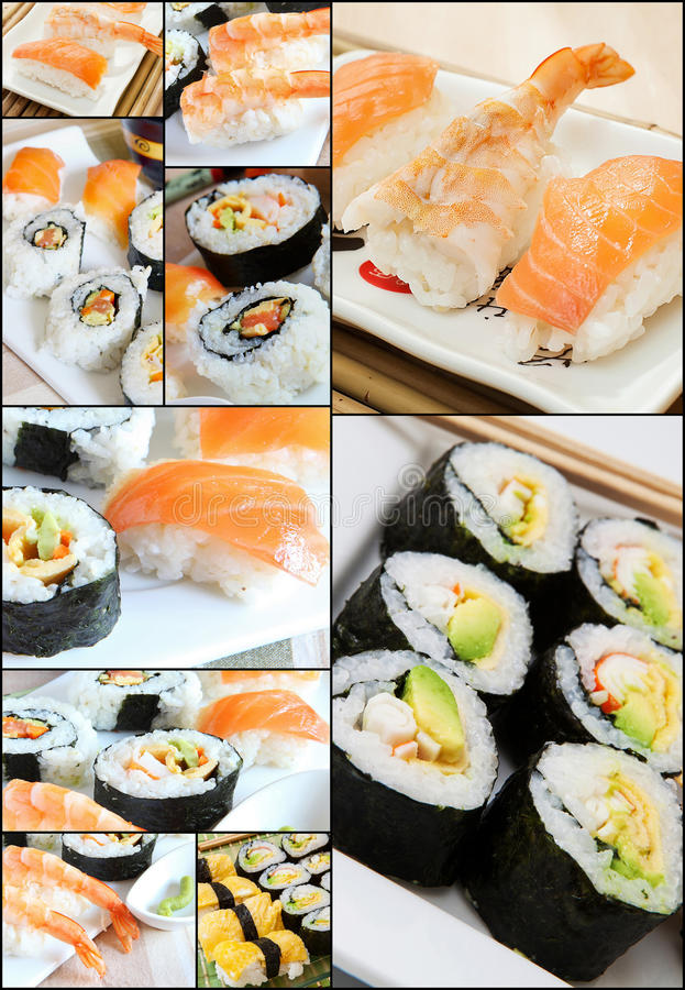 Download Sushi Collage Royalty Free Stock Images - Image: 24168289