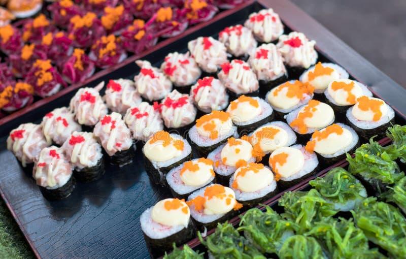 Sushi colorido del caramelo foto de archivo libre de regalías