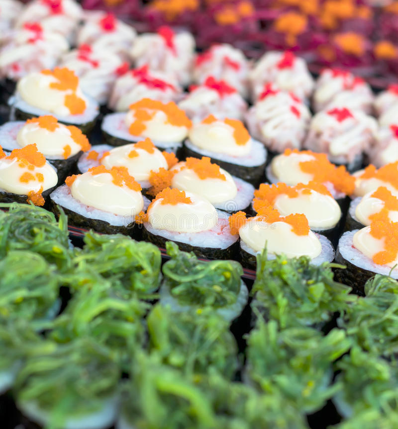 Sushi colorido del caramelo imágenes de archivo libres de regalías