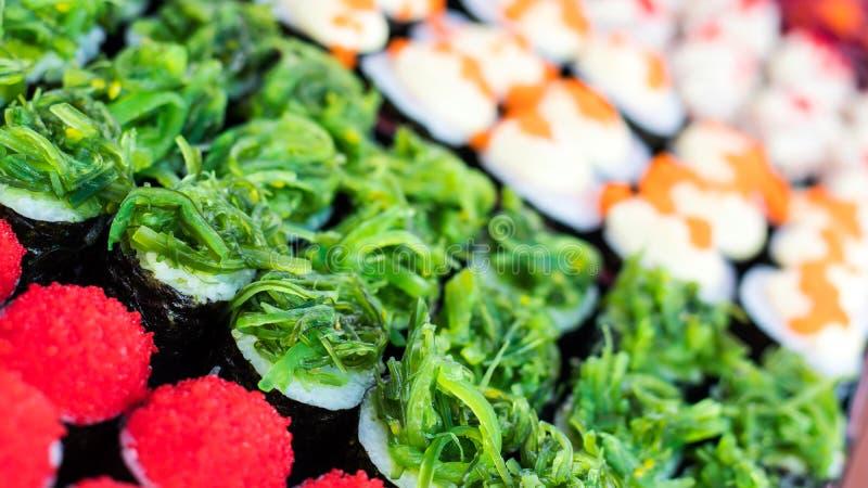 Sushi colorido del caramelo fotografía de archivo