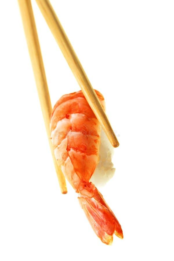 Sushi con el camarón imagen de archivo