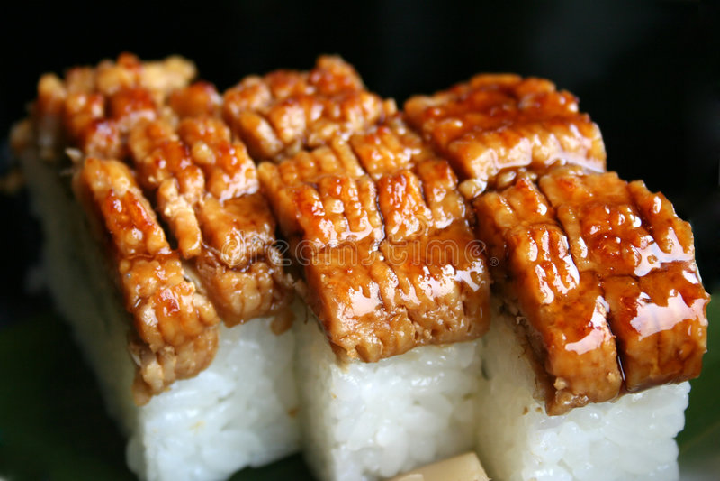Sushi D Anguille De Mer Photos stock