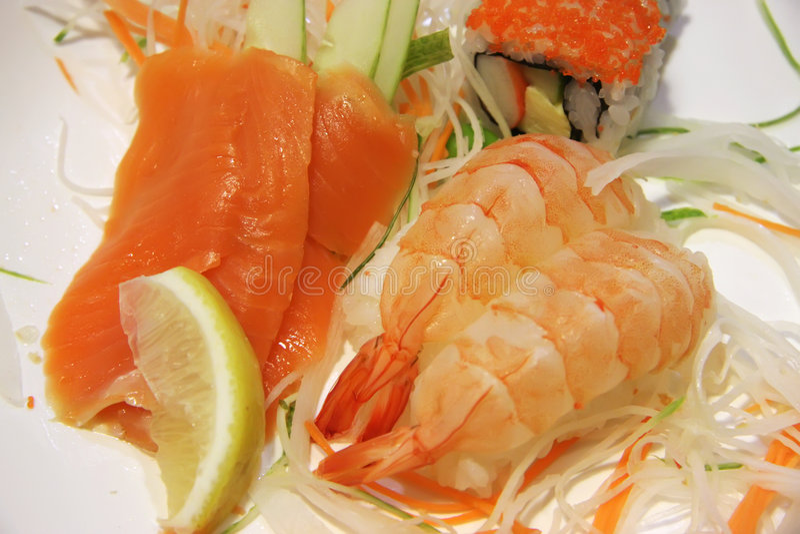 sushi d'ebi photographie stock