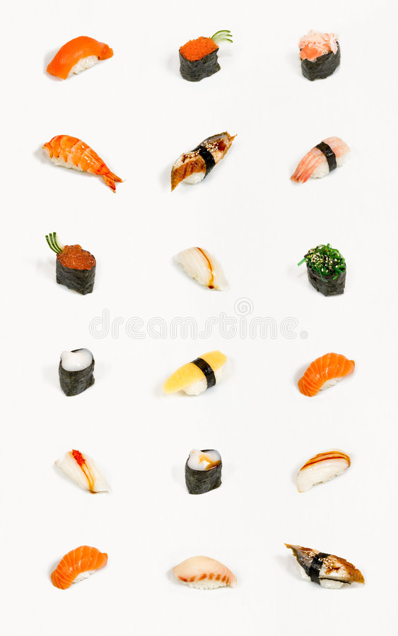 Sushi d'isolement photo stock