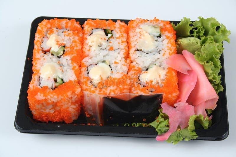 Sushi da andare fotografia stock libera da diritti
