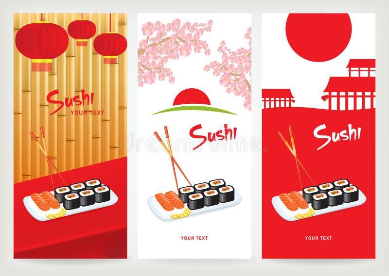 Sushi da bandeira ilustração royalty free