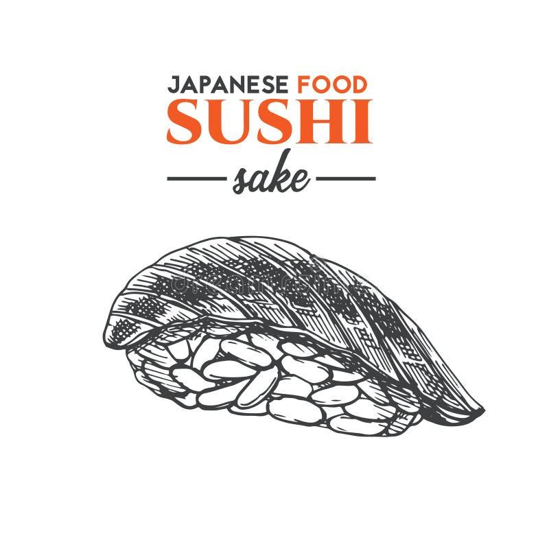 Sushi da causa ilustração royalty free