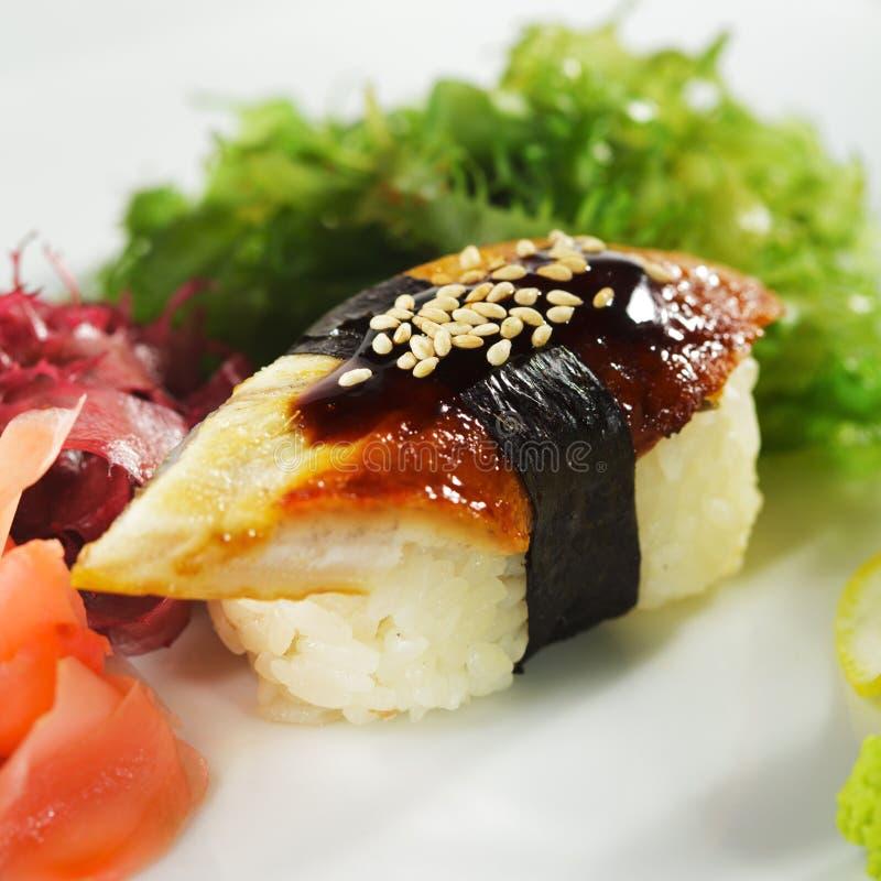 Sushi da enguia imagens de stock