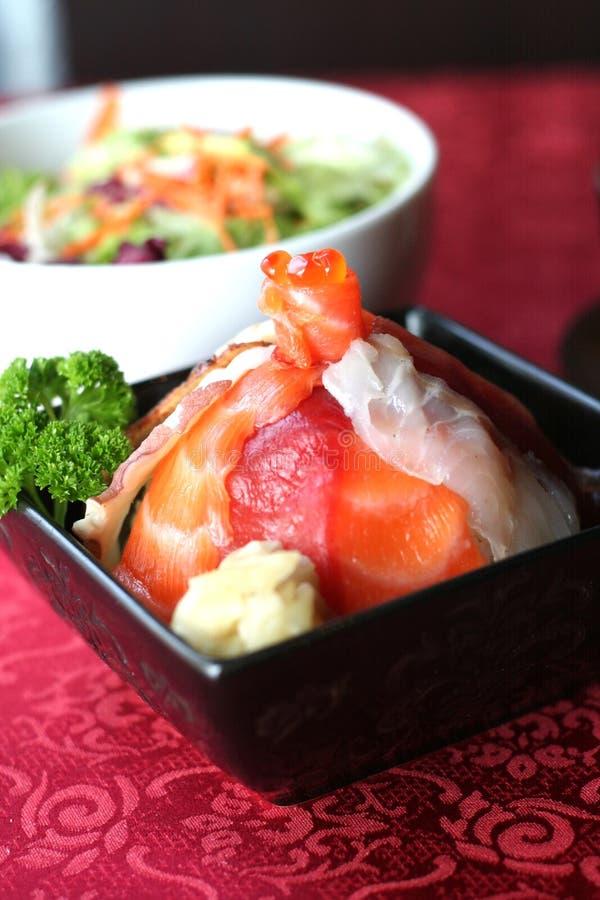 Sushi de Chirashi photographie stock