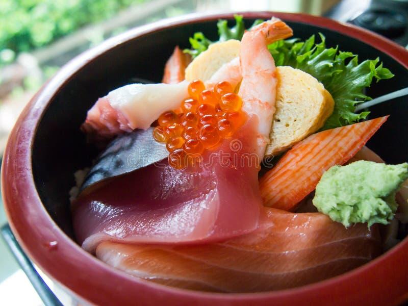 Sushi de Chirashi imagem de stock royalty free