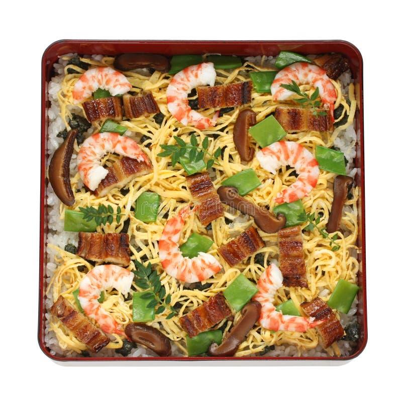 Sushi de Chirashi, alimento japonês foto de stock
