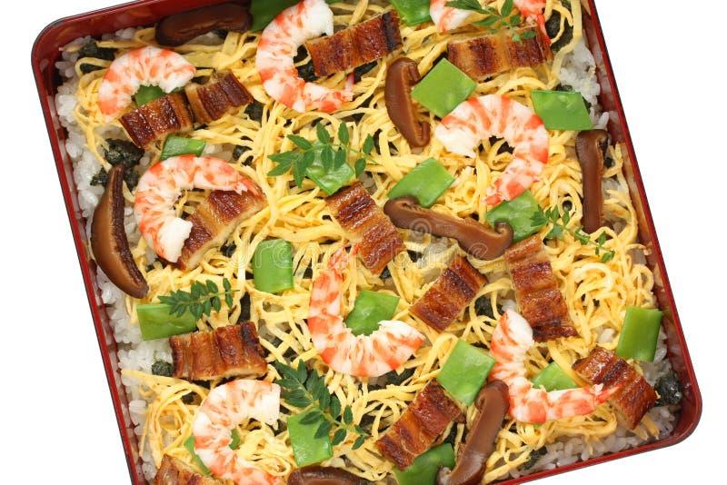 Sushi de Chirashi, alimento japonês imagem de stock royalty free