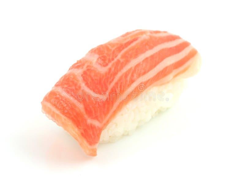 Sushi de color salmón imagen de archivo