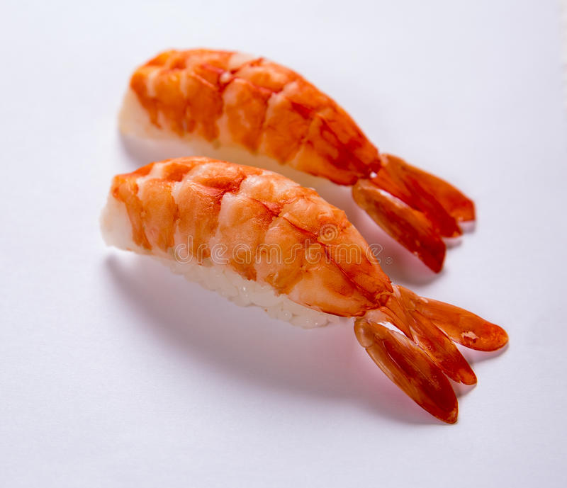 Sushi de Ebi (gamba) imagen de archivo libre de regalías