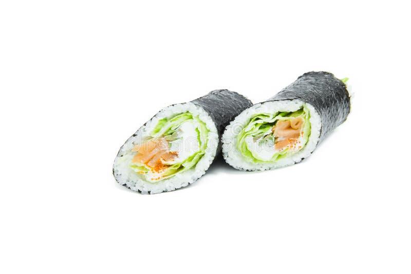 Sushi de Futomaki aislado imagen de archivo