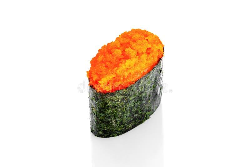 Sushi de Gunkan avec le caviar de tobiko photo libre de droits