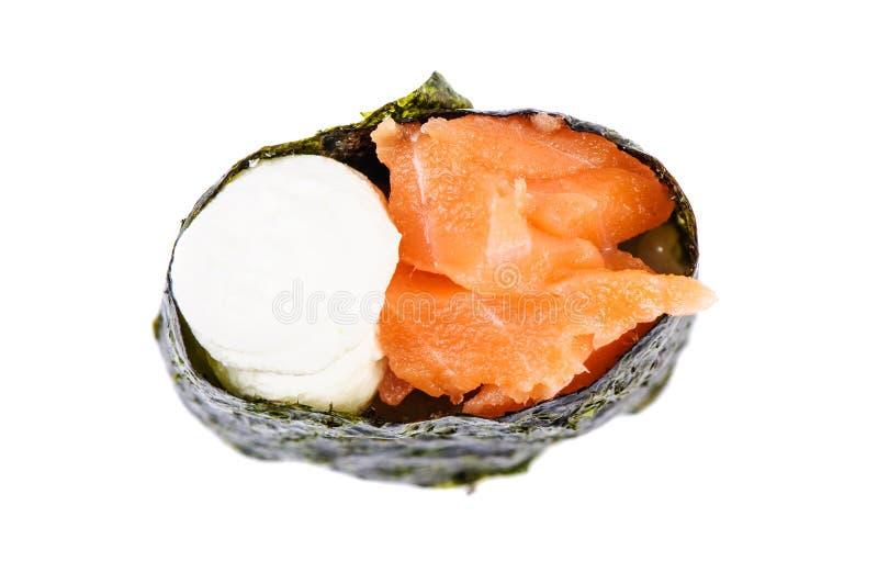 Sushi de Gunkan com salmões foto de stock royalty free