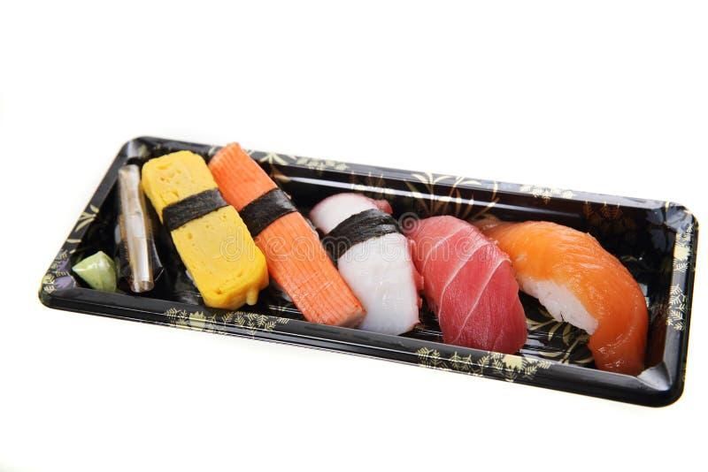 Sushi de la mezcla aislado imagen de archivo libre de regalías