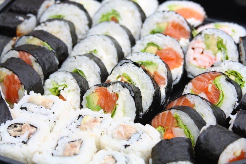 sushi de mélange de Japonais photographie stock libre de droits