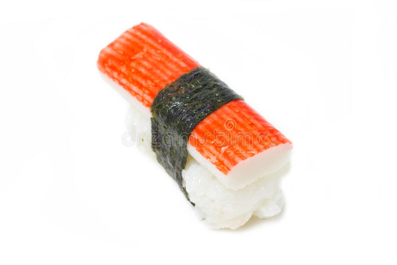 Sushi de Nigiri de bâton de crabe. photos libres de droits