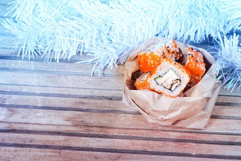 Sushi de Noël photos libres de droits