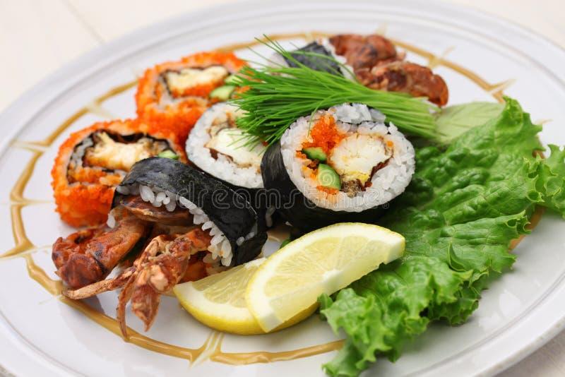Sushi de petit pain d'araignée image stock