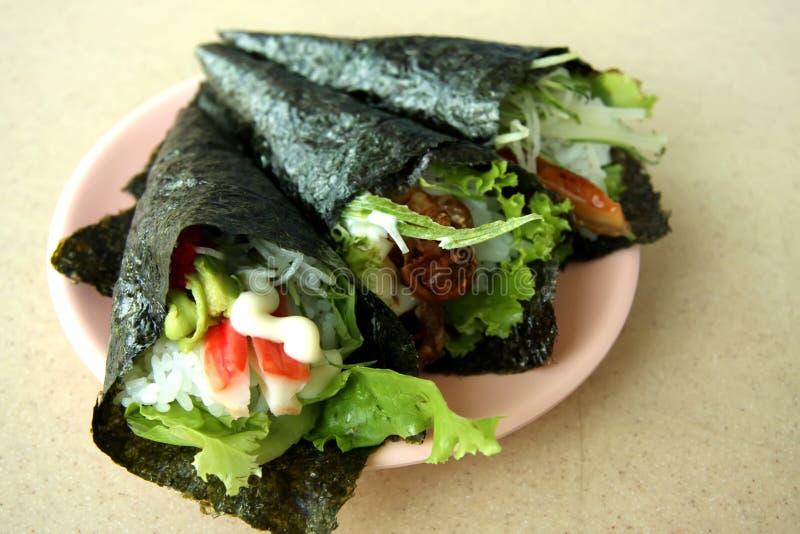 Sushi de Temaki photos libres de droits