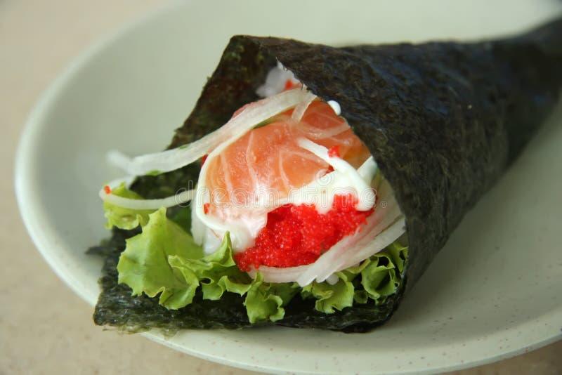 Sushi de Temaki photographie stock libre de droits