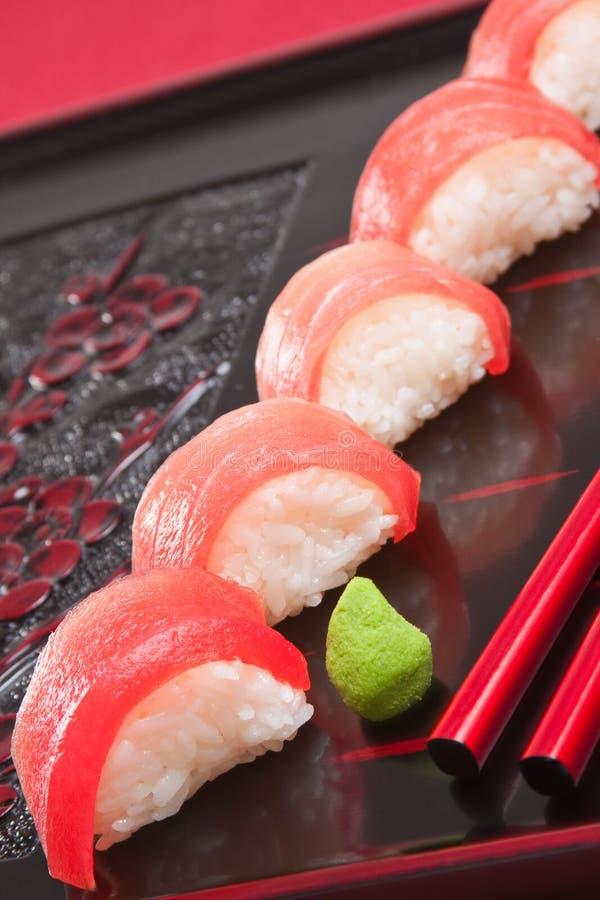 Sushi dello sgombro fotografia stock libera da diritti