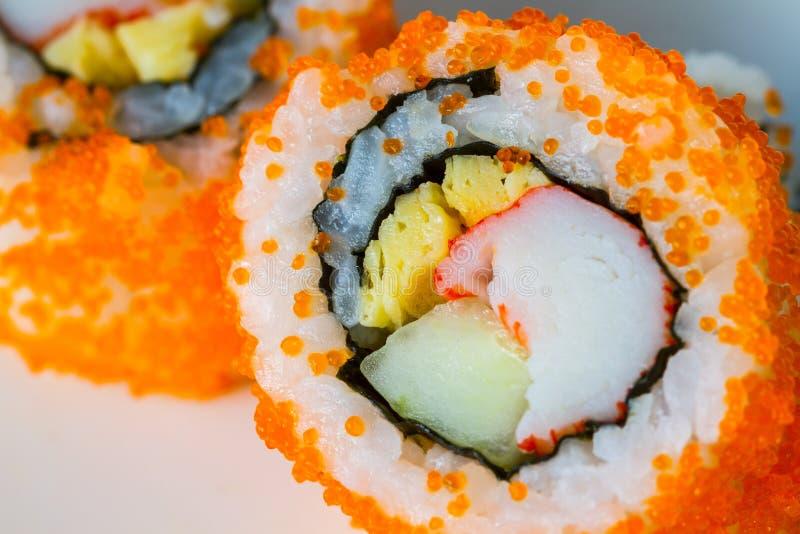 Sushi di California Maki fotografia stock