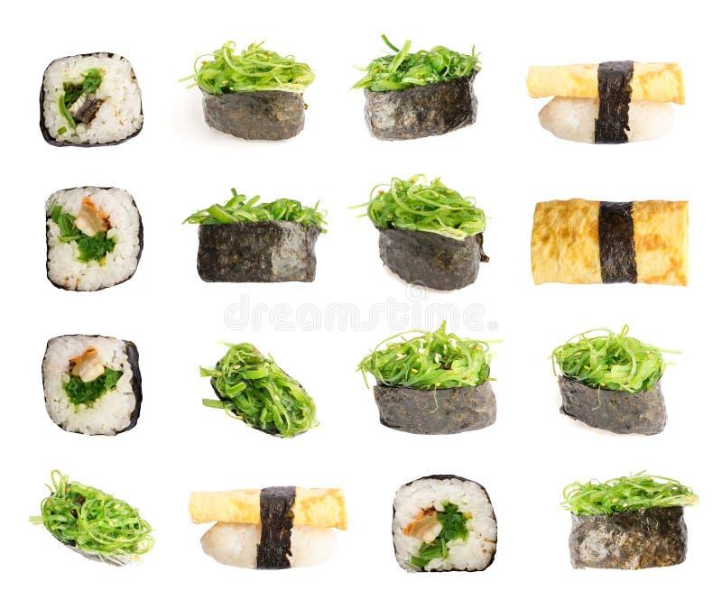 Sushi di Gunkan con alga immagine stock