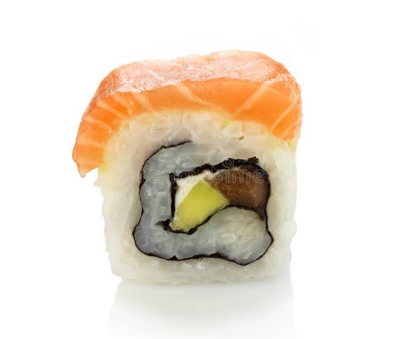 Sushi di Maki con i salmoni immagine stock