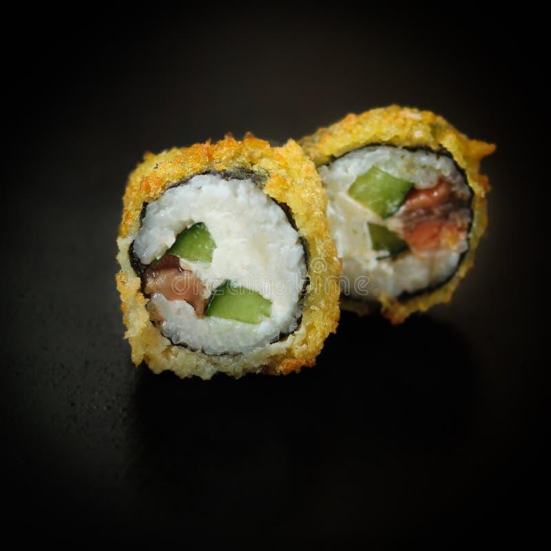 Sushi di Maki del Tempura fotografia stock