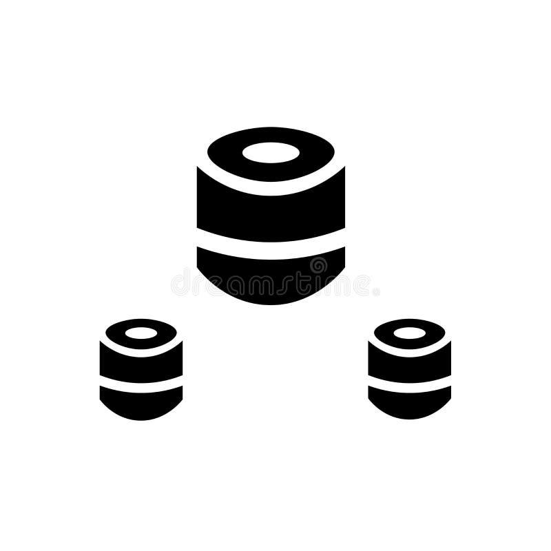 Sushi dish icon vector sign and symbol isolated on white background, Sushi dish logo concept vector illustration