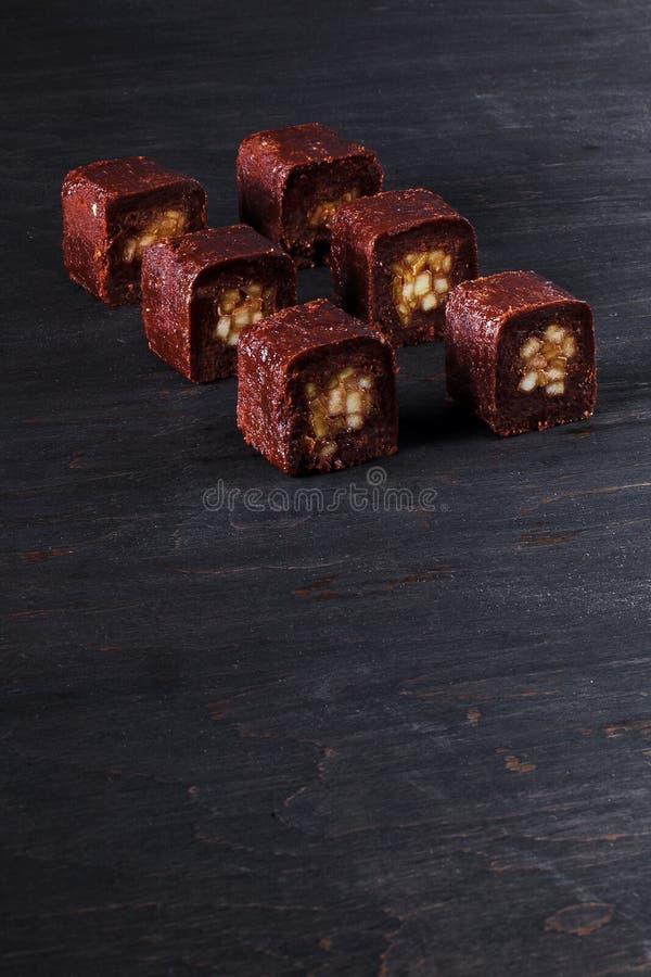 Sushi do chocolate com maçã foto de stock royalty free