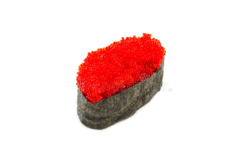 Sushi do maki de Tobiko Gunkan imagem de stock royalty free