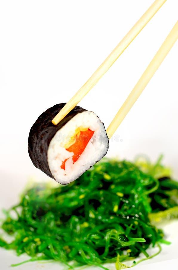 Sushi e alga fotografia de stock