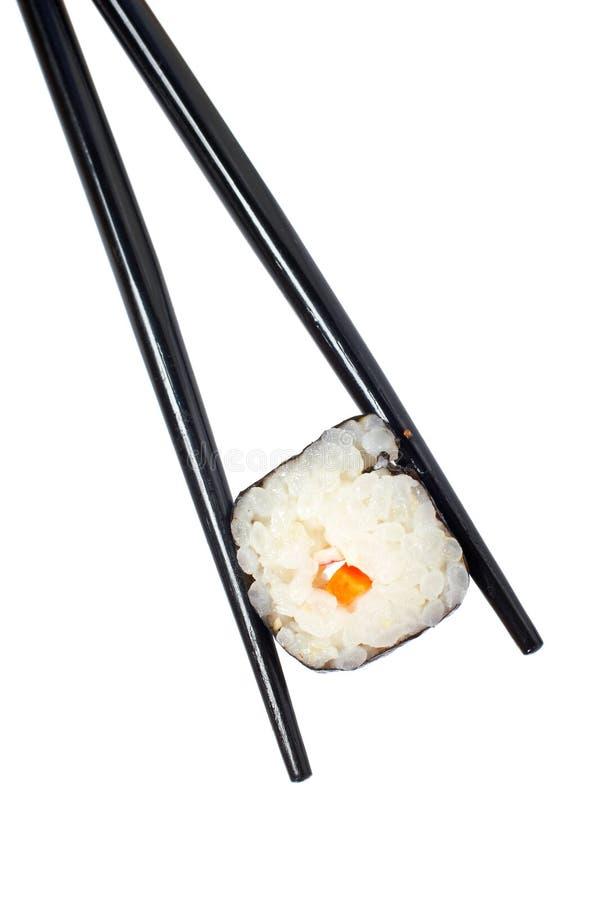Sushi e chopsticks imagem de stock