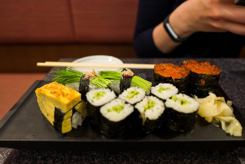 Sushi em Kumamoto imagem de stock