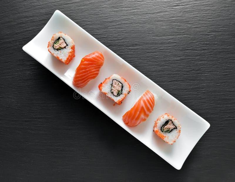 Sushi en broodjes stock afbeeldingen