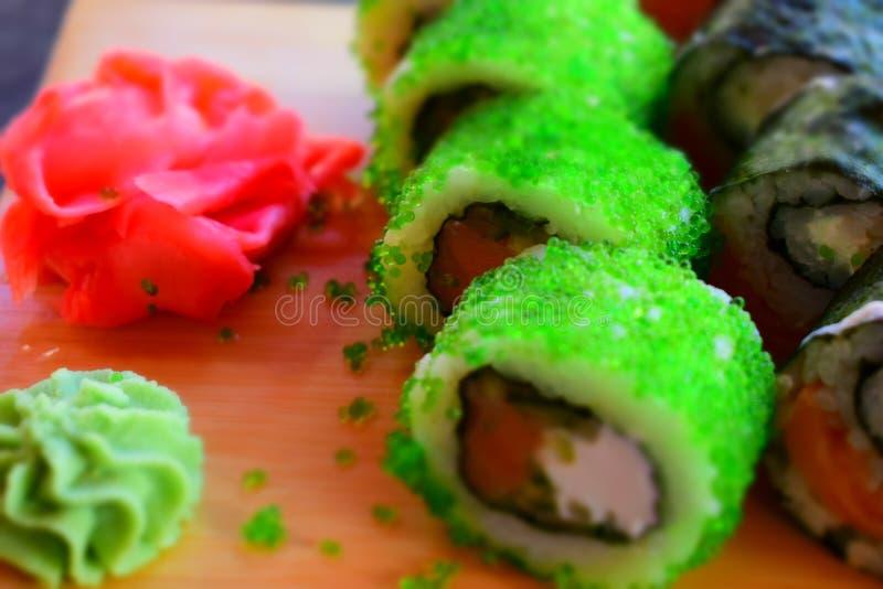 Sushi för lunch arkivfoton
