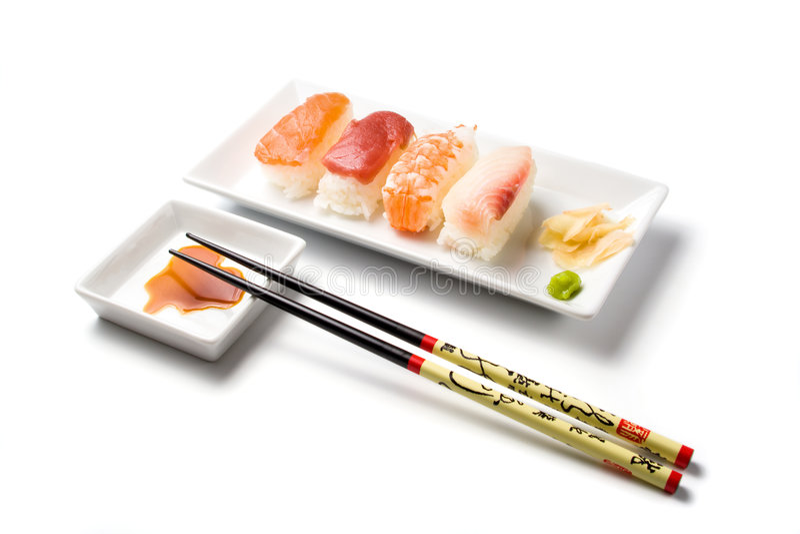 sushi för målnigiriserie fotografering för bildbyråer