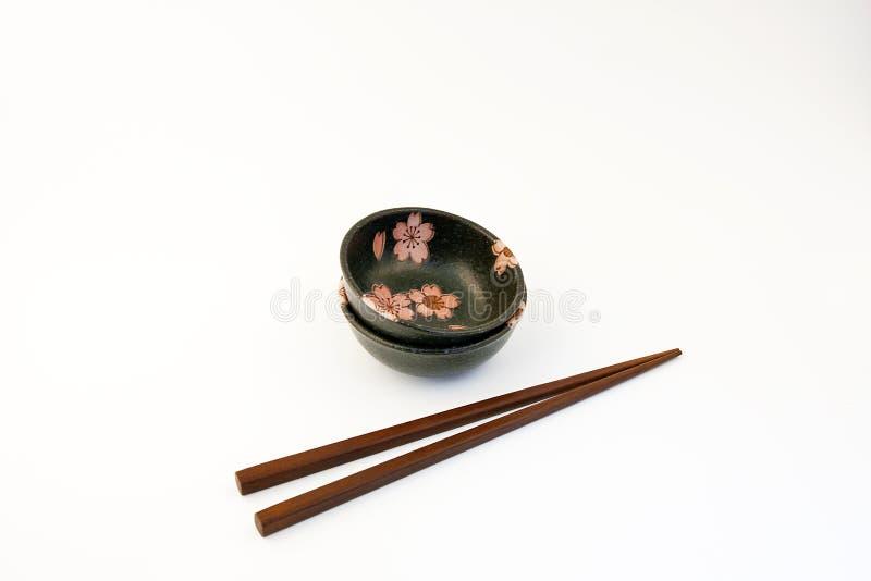 sushi för soy för bunkesås set royaltyfri fotografi