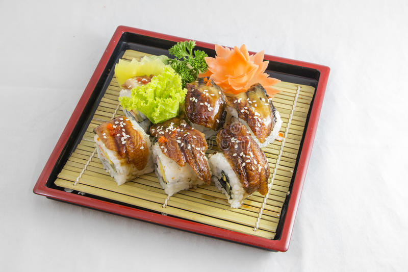 Sushi Fish Eel stock photos