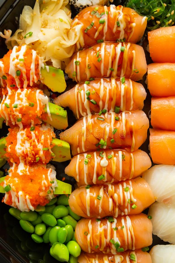 Sushi food art stock photos