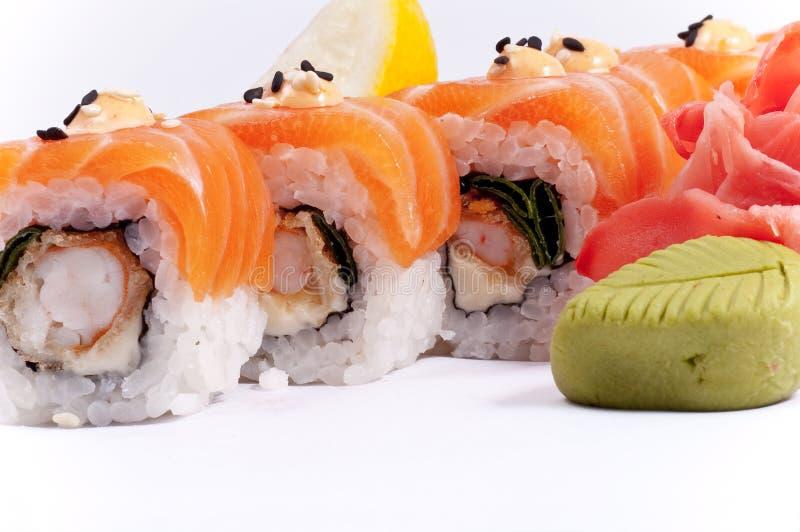 Sushi från fisk arkivfoton