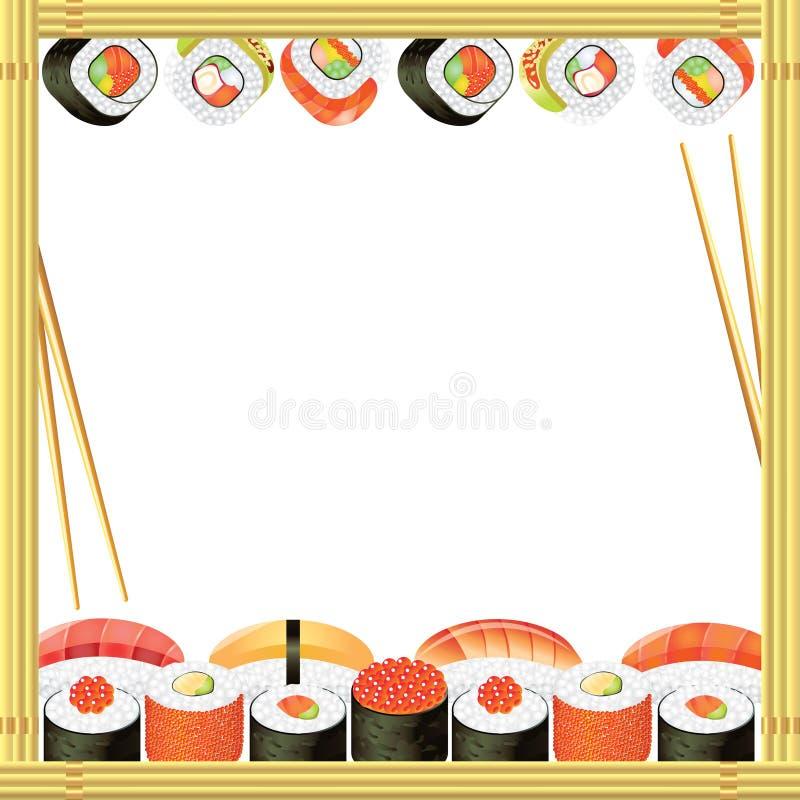 Sushi frame background vector illustration