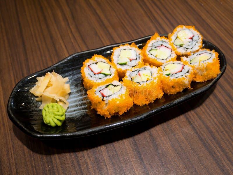 Sushi freschi e deliziosi di maki immagini stock libere da diritti